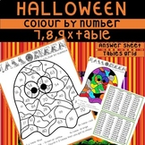 Halloween Colour By Number Multiplication