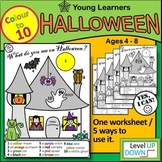 Halloween Colour to 10 Worksheet