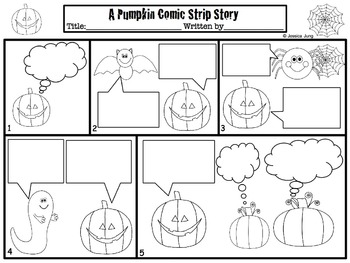 halloween comic strip template  Halloween Comic Strip Writing