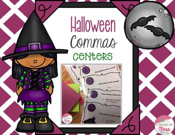 Halloween Commas Task Cards