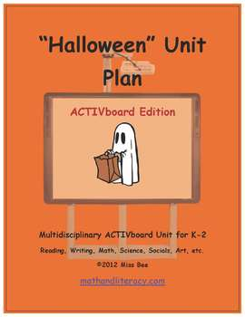 """Halloween"" Common Core Aligned Math and Literacy Unit - ACTIVboard EDITION"