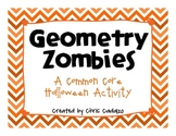 Common Core Geometry Halloween Zombies FREEBIE