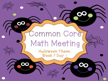 Halloween Common Core Math Meeting
