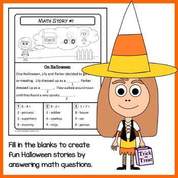 Halloween Math Puzzles - 1st Grade Common Core