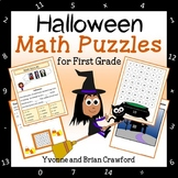 Halloween Math Puzzles - 1st Grade Common Core