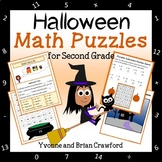 Halloween Math Puzzles - 2nd Grade Common Core