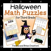 Halloween Math Puzzles - 3rd Grade Common Core