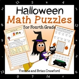 Halloween Math Puzzles - 4th Grade Common Core