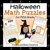 Halloween Math Puzzles - 5th Grade Common Core