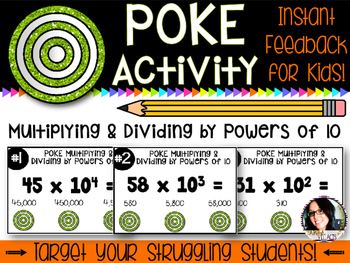 Common Core Poke Pack 5.NBT.2 Multiplying and Dividing by Powers of 10