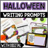 Halloween Writing Prompts - w/ Digital Halloween Writing P