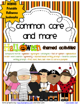 Halloween Common Core and More