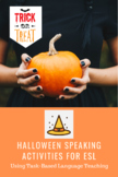 Halloween Communication Activities with Task Based Language Teaching