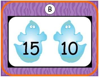 Halloween Comparing Numbers 0-19 Bundle