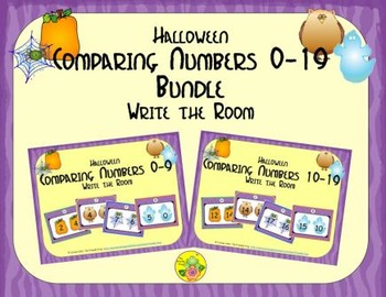 Halloween Comparing Numbers 0-19 Bundle