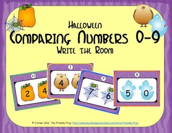 Halloween Comparing Numbers 0-9
