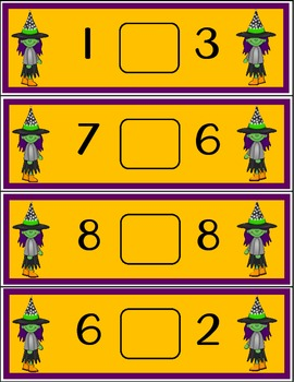 Comparing Numbers - Halloween Theme