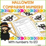 Halloween Comparing Numbers Task Cards | A Math Center