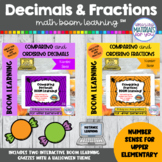 Halloween | Comparing and Ordering Fractions and Decimals