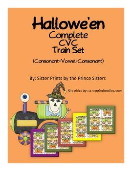 Hallowe'en Complete CVC Word Train Set