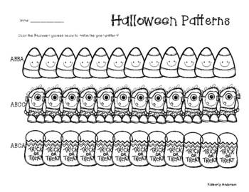 Halloween Complex Patterns Coloring Practice