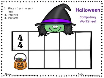 Halloween - A Composing Activity to Practice the Quarter Rest