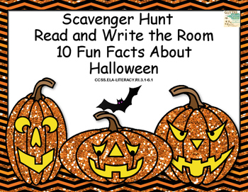 Halloween-Reading Comprehension- 10 Fun Facts- Read and Write The Room