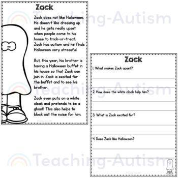 Halloween Comprehension, Literacy Activity