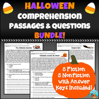 Halloween Comprehension Passages and Questions