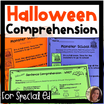Halloween Comprehension for Special Ed | Special Education and Autism Resource