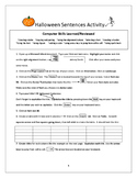 Halloween Computer Activity for Grades 3rd-6th