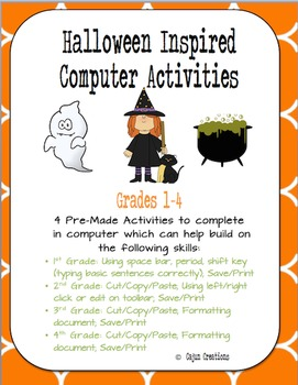 Halloween Computer Lab Activities