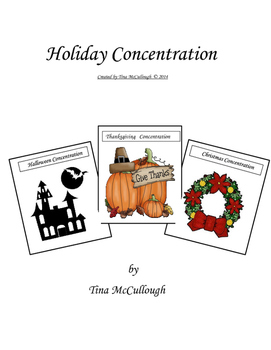 Holiday Concentration Christmas & Fall