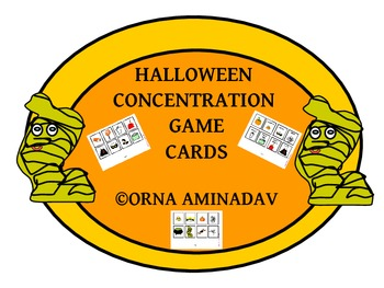 Halloween Concentration Game Cards