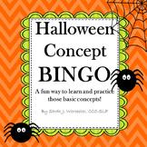 Halloween Concept BINGO! - A Game of Basic Concepts