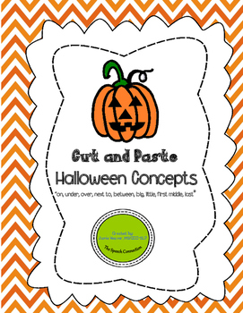 Halloween Concepts Cut and Paste Activity