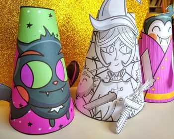 Halloween Cone Paper Craft Resource Pack