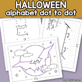 Halloween Connect the Dots - Dot to Dot Alphabet Worksheets