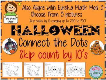 Halloween Connect the Dots Skip Count by 10  Great Math Center!