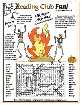 Halloween Consonant Blends Word Search Puzzle