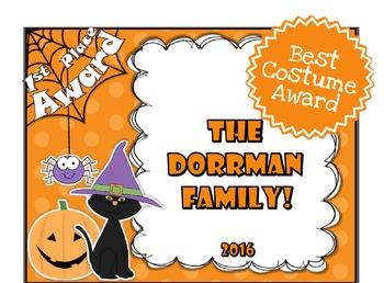 Halloween Contest Awards
