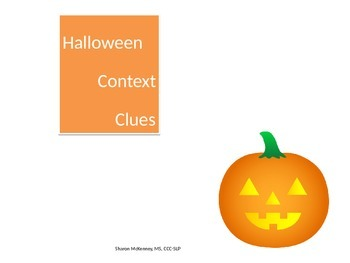 Halloween Context Clues