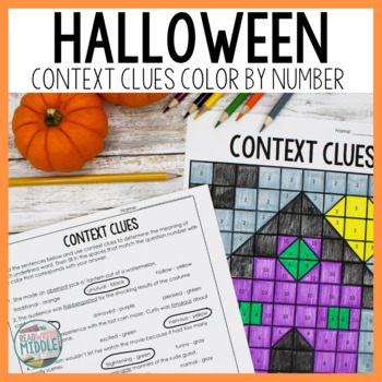 Halloween Context Clues Color By Number