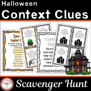 Halloween Context Clues Scavenger Hunt