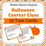 Halloween Context Clues Task Cards