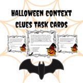 Halloween Context Clues Task Cards