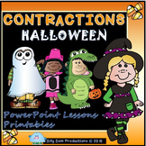 Halloween Contractions! PowerPoint Lesson & Printables