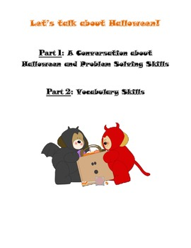 Halloween Conversation Skills and Vocabulary Skills Pack Print and Go!