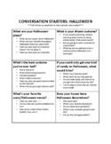 Halloween - Conversation Starters and Follow up Questions