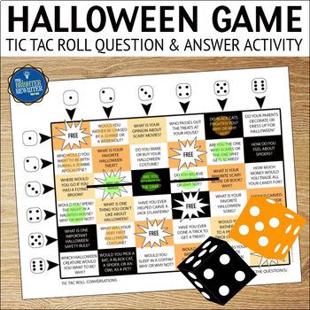 Conversation Starters Halloween Game
